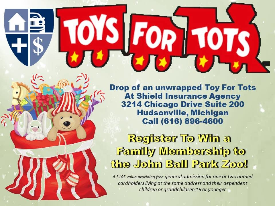 Toys For Tots Collection Site – Shield Insurance Agency Blog