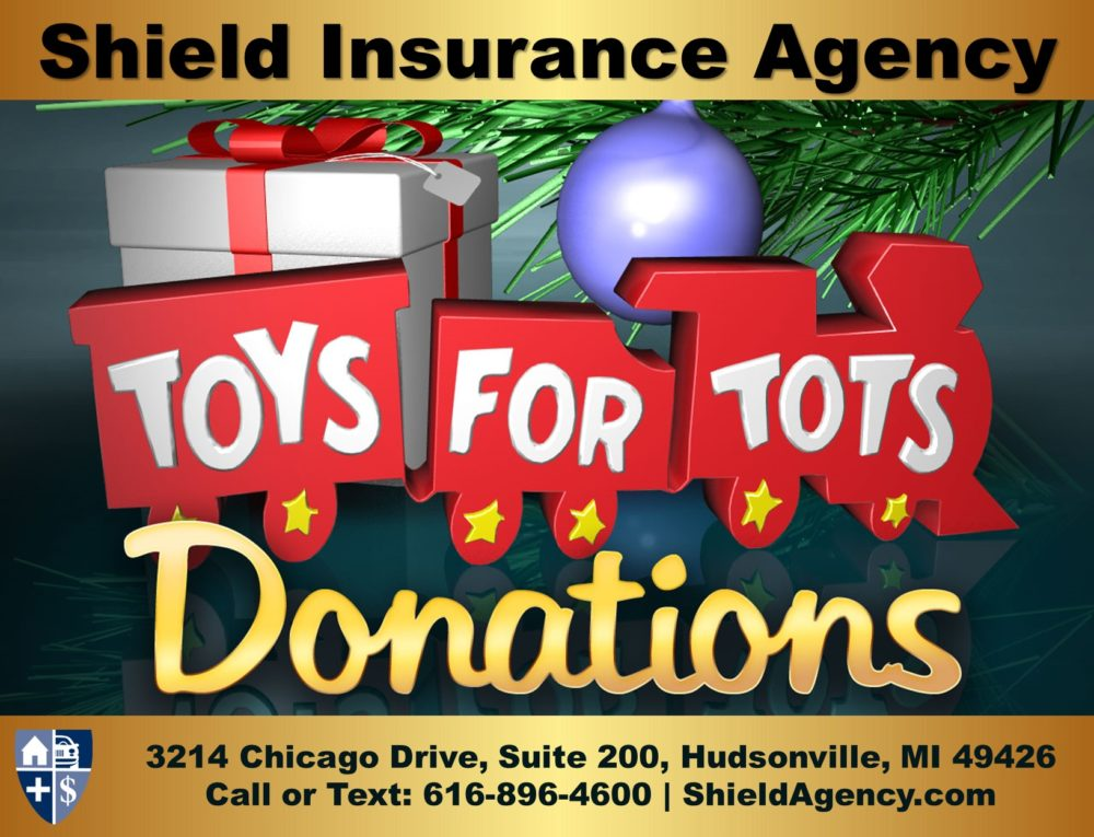 Toys for Tots Collection Center at Shield Insurance